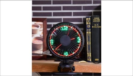 LED CLOCK FAN WITH CLIP
