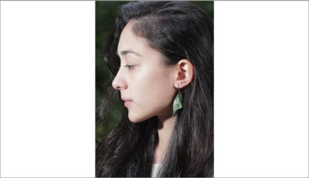 Leaf Leather earing